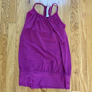 LuLuLemon Fuschia WorkOut Top w/ Built in Bra overlay blouse top 4 Exceptional