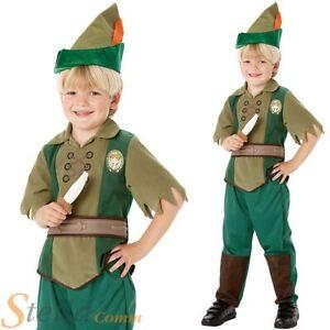 Boys Disney Peter Pan Neverland Book Week Fancy Dress Costume Child Kids Outfit