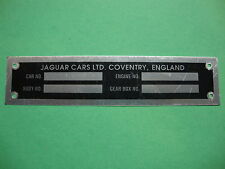 0635(0665) Jaguar XKE Series 2 & 3  I.D. Plate
