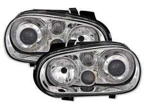 Angel Eyes Scheinwerfer Set für VW GOLF 4 IV in Klarglas mit Nebelscheinwerfer