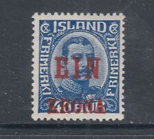 "Iceland Sc 150 MLH. 1926 1k on 40a ""Ein Krona"" surcharge, VF"