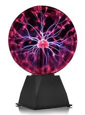 "PLASMA BALL 8"" RETRO FUN TOY GADGET LAMP ORB LIGHT SCIENCE LEARNING KIDS GIFT"