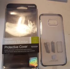New Genuine Original Samsung Galaxy S6 Clear Silver Protective Cover Case