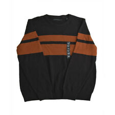 Sean John, Men's, Striped Crew Neck Sweater,  Brown Orange, Size 3XL