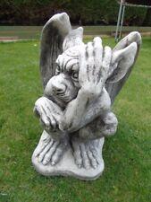 gargouille ailées statue en pierre patinée, monstre  , nouveau   !