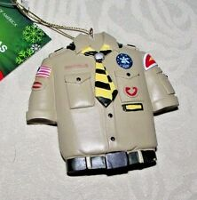 Boy Scout of America Christmas Ornament Boy Scout Shirt w/ badges by Kurt Adler