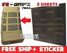 Raddlock R-Gripz Grip Tape Black 3 Sheets 54 stickers Rubberzd Magpul M2 M3 Pmag