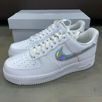 Nike Air Force 1 '07 Low 'White Iridescent Swoosh' Women's Sneakers CJ1646-100