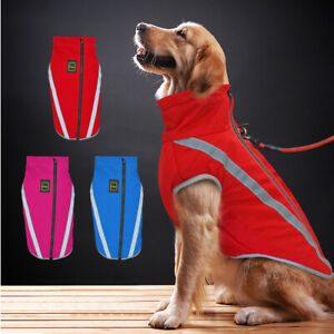 Dog Coat Waterproof Large Dog Clothes Reflective Jacket Rottweiler Pitbull L-6XL