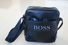 HUGO BOSS Mens Black Messenger / Shoulder Bag  For Travel Work Holiday