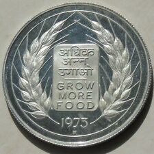 India 10 Rupees 1973-B Grow More Food KM# 188 Proof Silver 39mm 22.58g