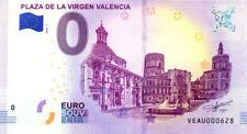 ESPAGNE Valencia, Plaza de la Virgen, N° de la 7ème liasse, Billet 0 € Souvenir