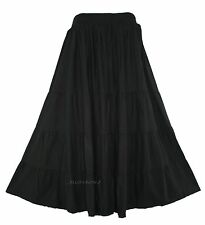 Black Women BOHO Gypsy Long Maxi Tiered Skirt 3X 22