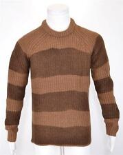 NEW BURBERRY BRIT MEN'S $595 WALNUT BROWN WOOL BLEND KNIGHT LOGO SWEATER M