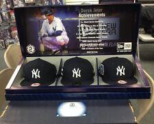 NEW YORK YANKEES DEREK JETER COLLECTION NEW ERA CAPS 7 1/4 LIMITED EDITION /2014