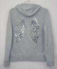 Victoria's Secret Gray Angel Wings Sequin Zip Hoodie Jacket Medium M