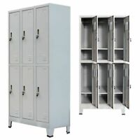 Locker Cabinet w/6 Compartment Office Gym Sports & Company  Changing Container