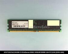 Infineon HYS72D256220GBR-5-B DDR 2GB PC-3200 Reg ECC 400Mhz 2Rx4 RAM Memory