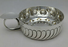 Antique Solid Silver French Wine Taster Saucer Fully Hallmarked (463-7-YAS )