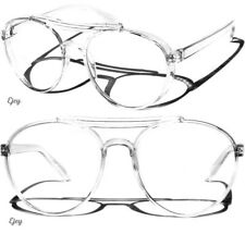 Retro Aviator Transparent Frame Clear Lens Glasses Large Classic Style Fashion