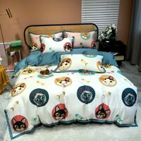 New Style Cartoon  Egyptian Cotton Luxury Bedding Set Bed Duvet Cover Bed Sheet