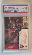 1996 Upper Deck Michael Jordan! Jordan's Viewpoints #VP8 PSA 8. HOFer! GOAT!