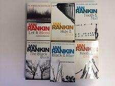 Ian Rankin x6 -Tooth & Nail, Black & Blue, Knots & Crosses, Black Book