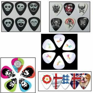 Fun Guitar Pick Packs - Choose Unicorn,  Sgt Pepper The Beatles, England