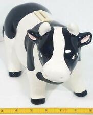 Ceramic Cow Coin Bank vintage piggy bank