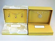 2 Charter Club earrings & necklace costume jewelry box set Lot new & unused