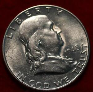 Uncirculated 1948-D Denver Mint Silver Franklin Half