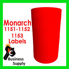Red Labels for Monarch 1151, 1152, 1153, 1175, 1176, 1177 Free Shipping