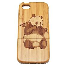 iPhone 5c Bamboo Wood Case ( Panda Laser Engraving ) 100% Wood Cover✔️