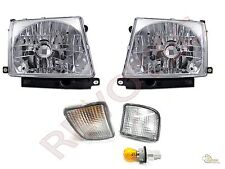 98 99 00 Toyota Tacoma 4WD Chrome Headlights Lamps + Front Signal Bumper Lights