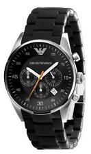 BRAND NEW EMPORIO ARMANI BLACK DIAL CHRONOGRAPH MEN WATCH AR5858