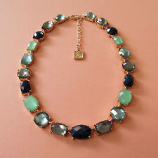 """ANNE KLEIN 16.5-19.5"""" Fashion Necklace W/ 21 Faceted Glass Crystals Jewelry New"""