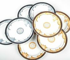 "ROSENTHAL.GERMANY.VERSACE.EPOQUE  ARABESQUE  PLATES.CHAMPAIGNE.  7"". SET OF 4."