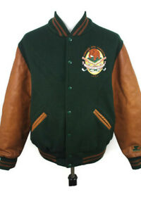 🔴 VTG 1992 Chicago Bears Leather Jacket Starter Ditka Golf Coaches Classic L