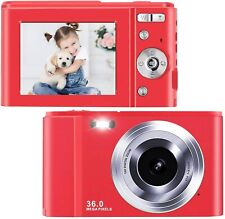 toberto Digital Camera, 1080P HD Vlogging LCD Mini Camera with 16X Zoom 36MP Dig