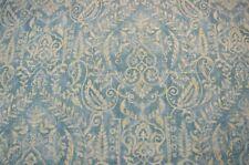 Light Blue Linen Damask Print Bonaire Ocean Covington Fabric
