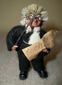 "Vintage Steiff Mecki Orchestra Conductor Hedgehog DOLL 3-1/4"""