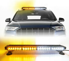 Led Emergency Warning lights Amber/White Strobe Light Bar Roof Traffic Advisor
