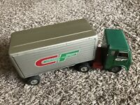 vintage white freightliner tin friction truck CF Made In Japan Collectible