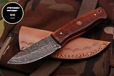 6INCH NEW RM CUSTOM DAMASCUS STEEL FULL TANG HUNTER SKINNER KNIFE WOOD HANDLE 53