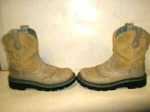 WOMENS ARIAT FAT BABY FATBABY LEATHER WESTERN COWBOY BOOTS SIZE 7