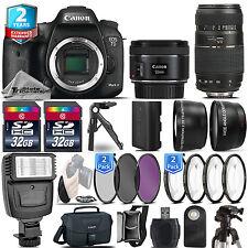 Canon EOS 7D Mark II Camera + 50mm 1.8 STM + 70-300mm + 2yr Warranty- 64GB Kit