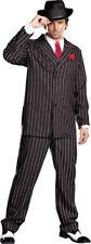 Morris Costumes Men's Long Sleeve Gangster Suit Black White 2XL. RL8190XXL