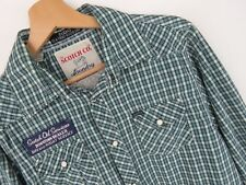 KD2356 SCOTCH&SODA WESTERN SHIRT TOP GREEN CHECK ORIGINAL PREMIUM size M