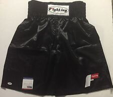 Autographed/Signed MANNY PACQUIAO Black Fight Boxing Trunks/Shorts PSA/DNA COA