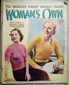 Woman's Own magazine from 1937, Marlene Dietrich, great pics & adverts